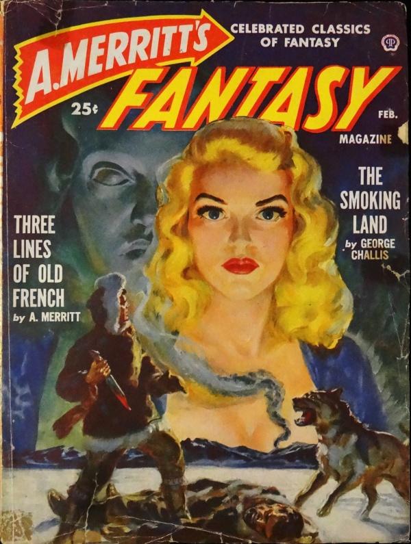 A. Merritt's Fantasy Mag. Vol. 1, No. 2 (Feb., 1950). Cover Art by Norman Saunders