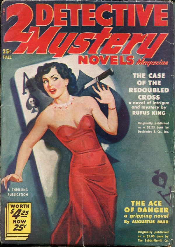 2 Detective Mystery Novels Fall 1950