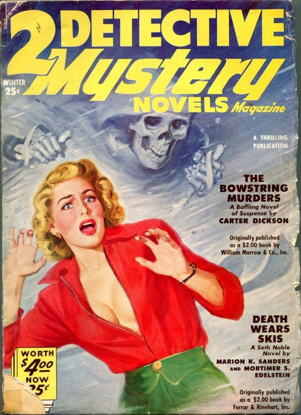 2 Detective Mystery Novels Winter 1951