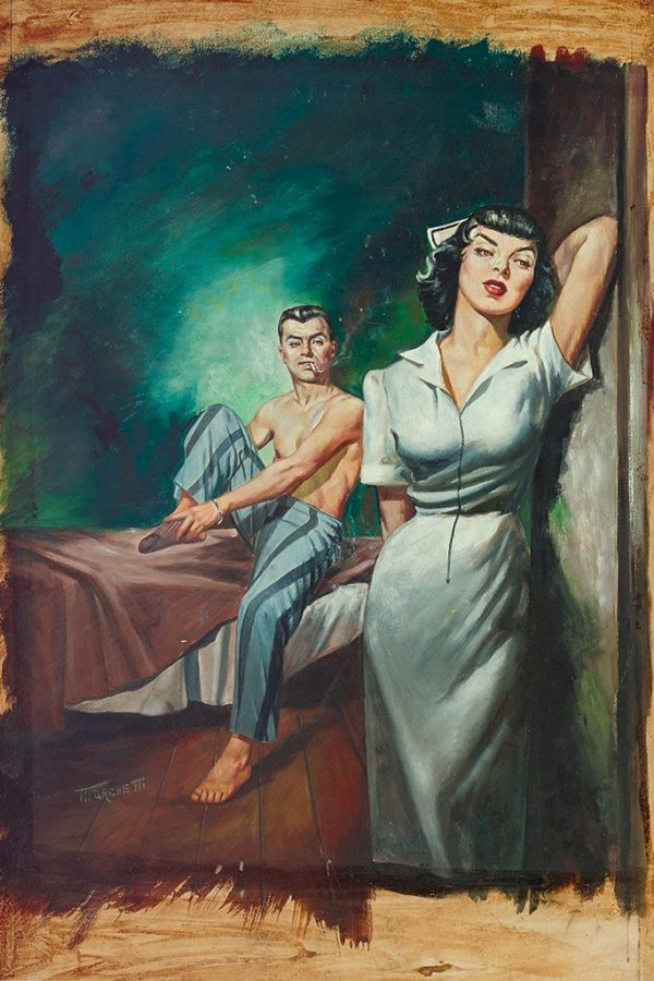 Lou Marchetti Intimate Affairs of a French Nurse gouache on board