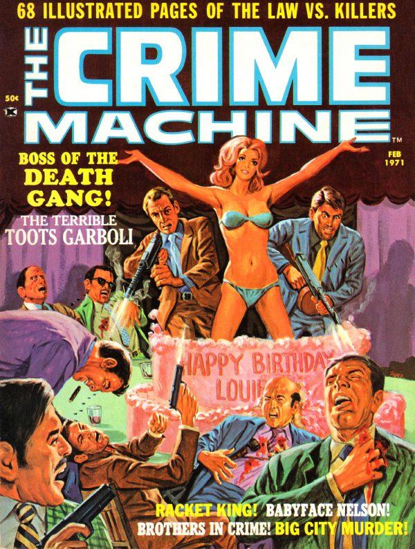 Crime Machine 01 - 01 front cover - Tom Palmer