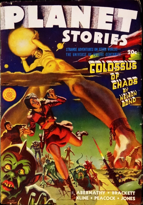 Planet Stories Vol. 2, No. 1 (Winter 1942). Cover by Allen Anderson