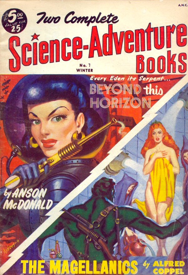 Two Complete Science-Adventure Books – Pulp Covers