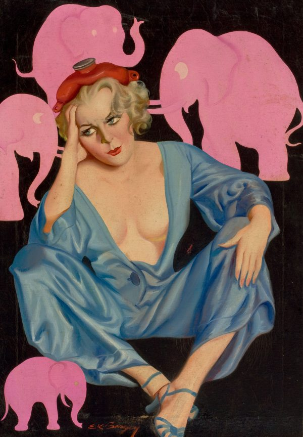Pink Elephants, Bedtime Stories pulp cover, August 1935