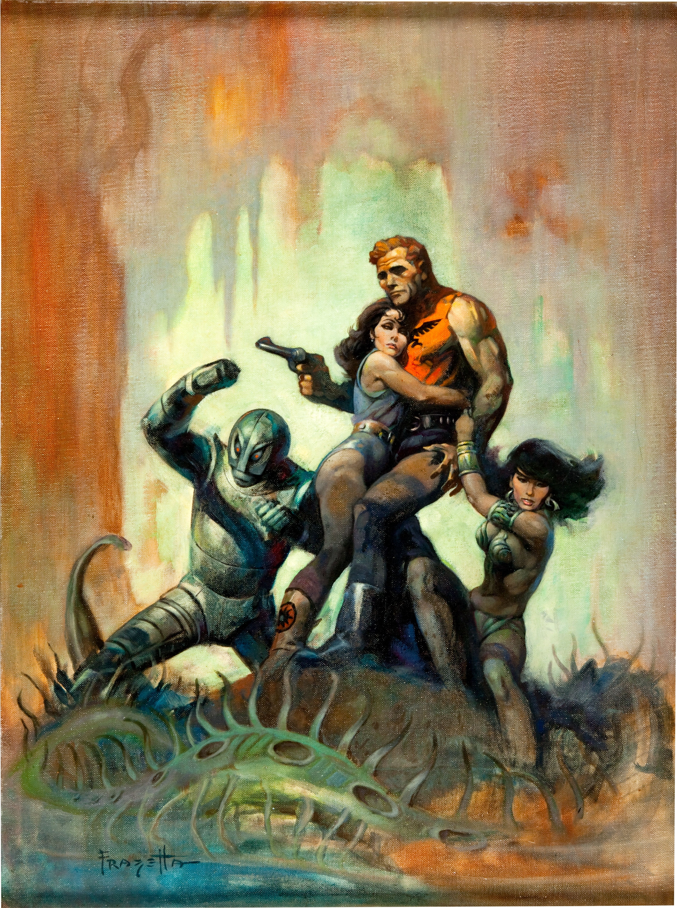 Book Cover Artists Fantasy : Frank frazetta page pulp covers
