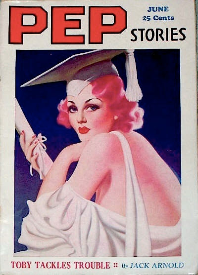 Pep Stories cover, July 1938