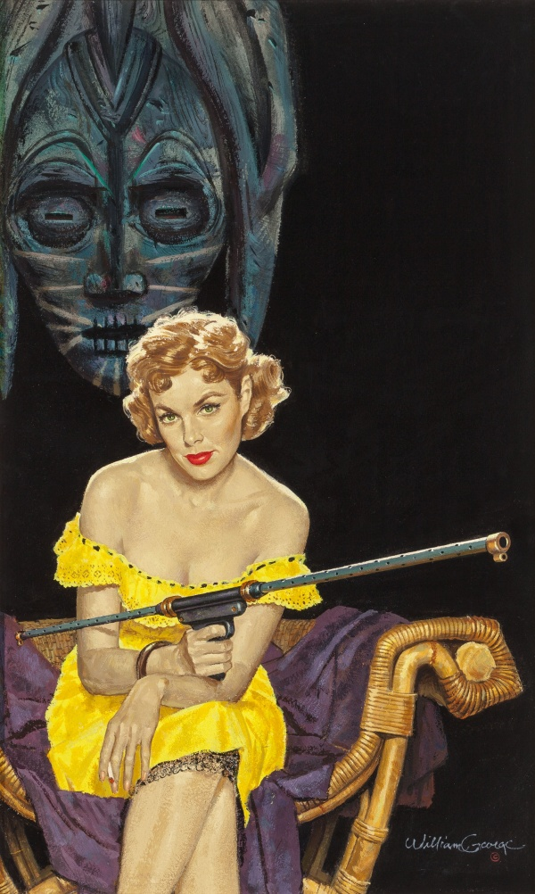 The Deadly Mermaid, paperback cover, 1954