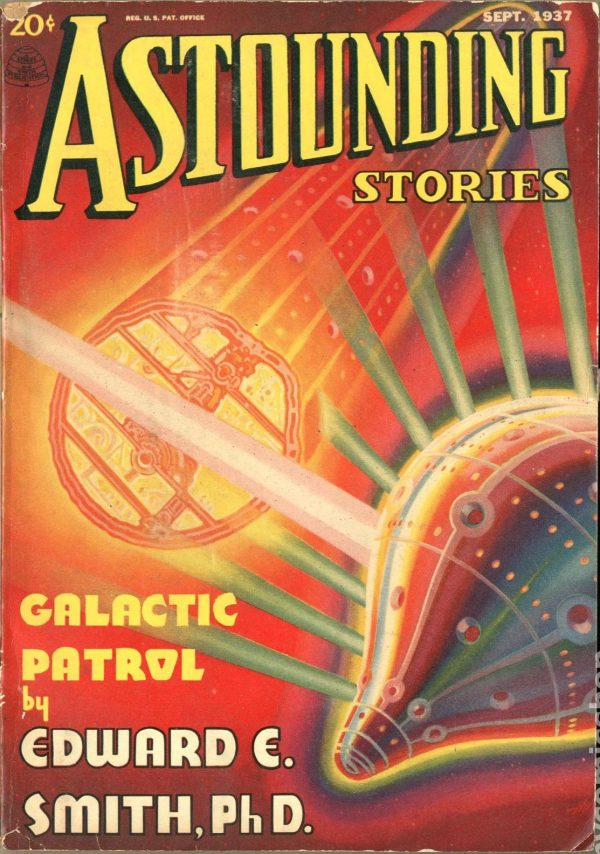 Astounding Stories pulp magazine cover, September 1937