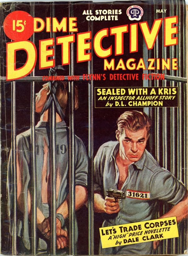 DIME DETECTIVE MAGAZINE. May 1948