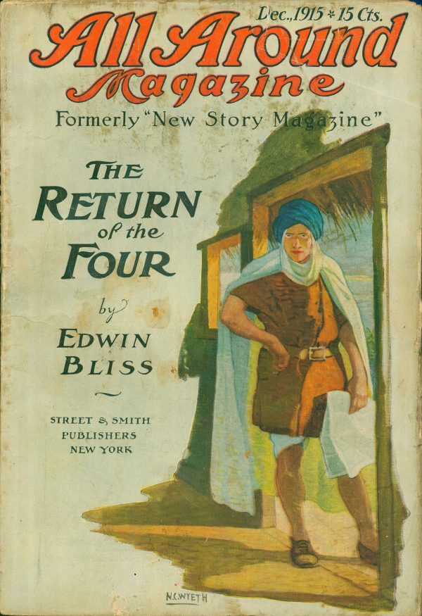 The Return of the Four, All Around Magazine, pulp cover, December 1915