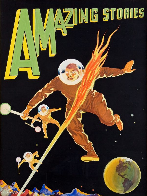 Amazing Stories, Pulp cover, 1929