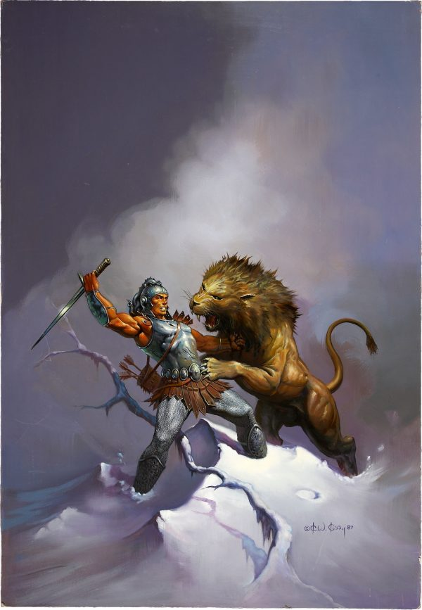 Ken Kelly The Clan of the Cats Paperback Cover Original Art