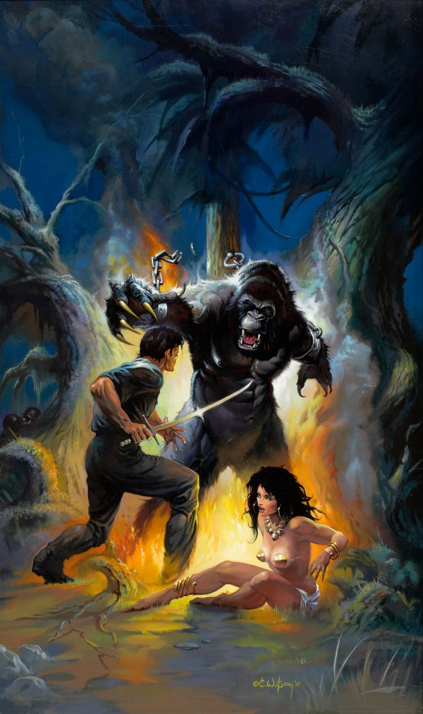 Trails in Darkness, paperback cover, 1996