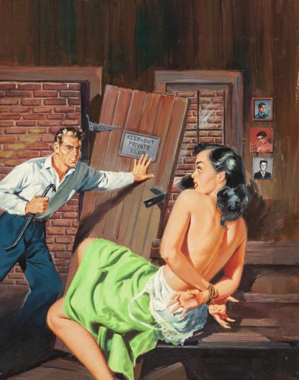Gang Girl, paperback cover, 1957