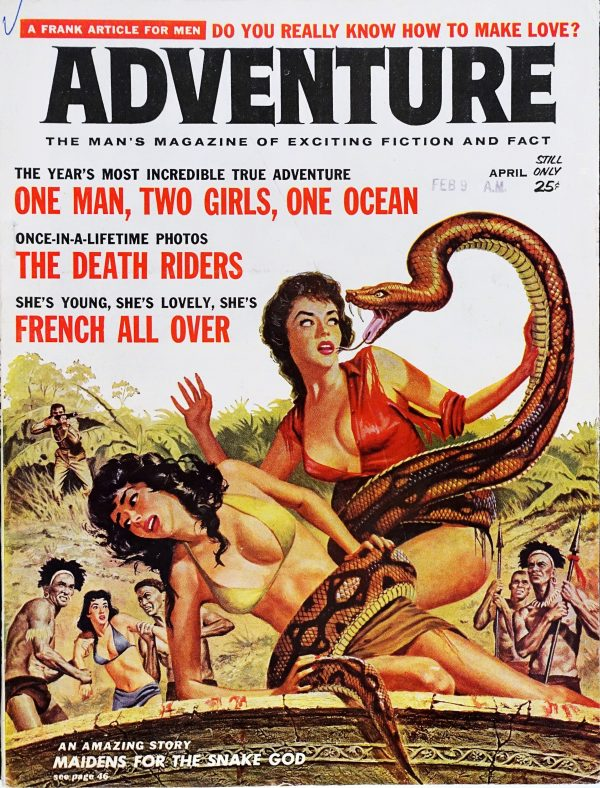 Adventure (April, 1961). Cover Art by Vic Prezio