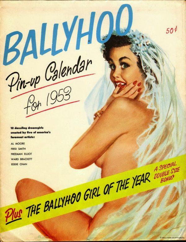 1953 pinup calendar