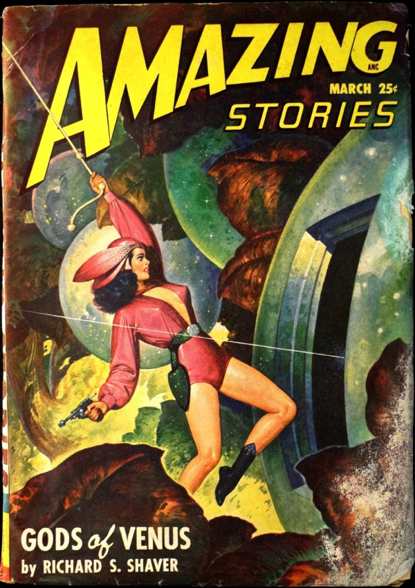 Amazing Stories Vol. 22, No. 3 (March 1948). Cover Art by Robert Gibson Jones.