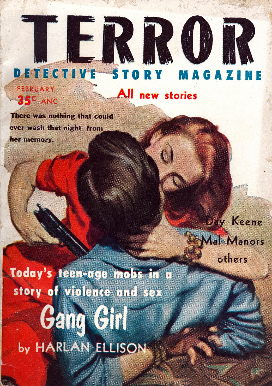 Trapped Detective Story Magazine Feb. 1963 NEVER TRUST A RICH BITCH Henry Kane