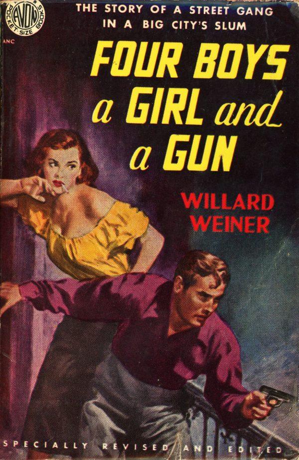 11489373553-avon-books-444-willard-weiner-four-boys-a-girl-and-a-gun