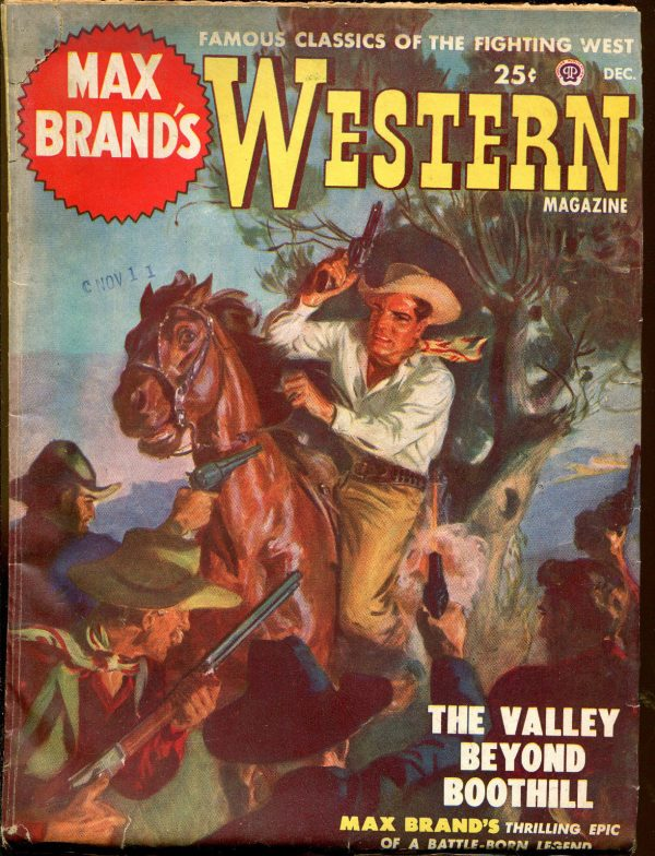Max Brand's Western Pulp Magazine-1st Issue-December, 1949