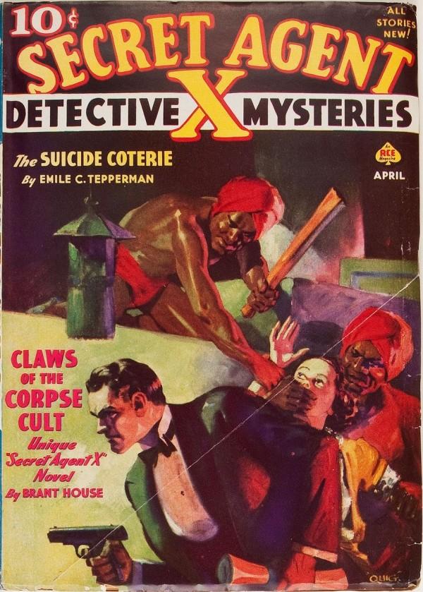 Secret Agent X - April 1938