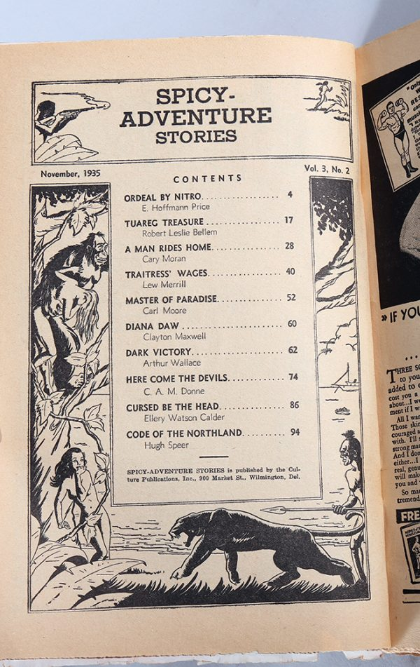 Spicy-Adventure Stories - Nov 1935 Contents
