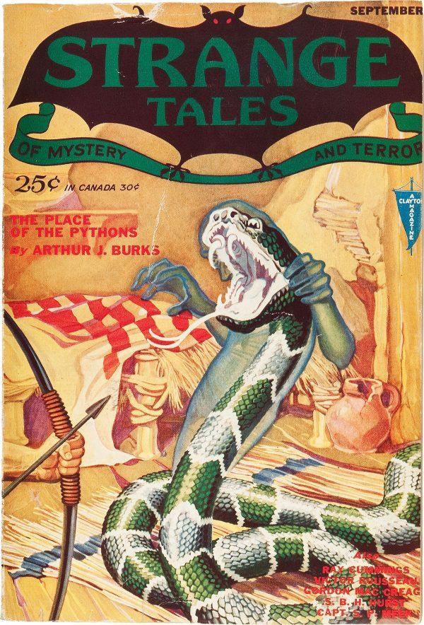 Strange Tales September 1931