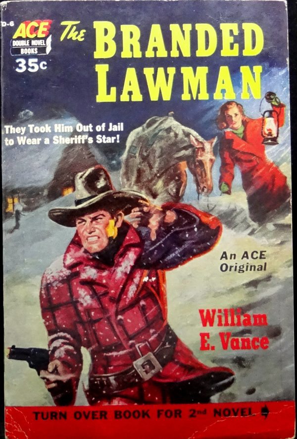 Ace Double D-6 Paperback Original (1952).  Cover Art by Norman Saunders