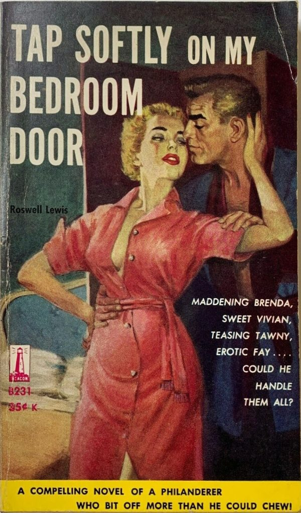 Tap Softly On My Bedroom Door by Lewis Roswell, Beacon Books, 1959