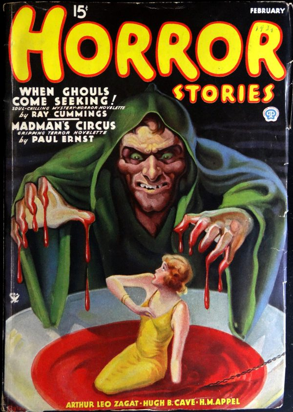 Horror Stories Vol. 1, No. 2 (Feb., 1935).  Cover by Rudolph W. Zirm