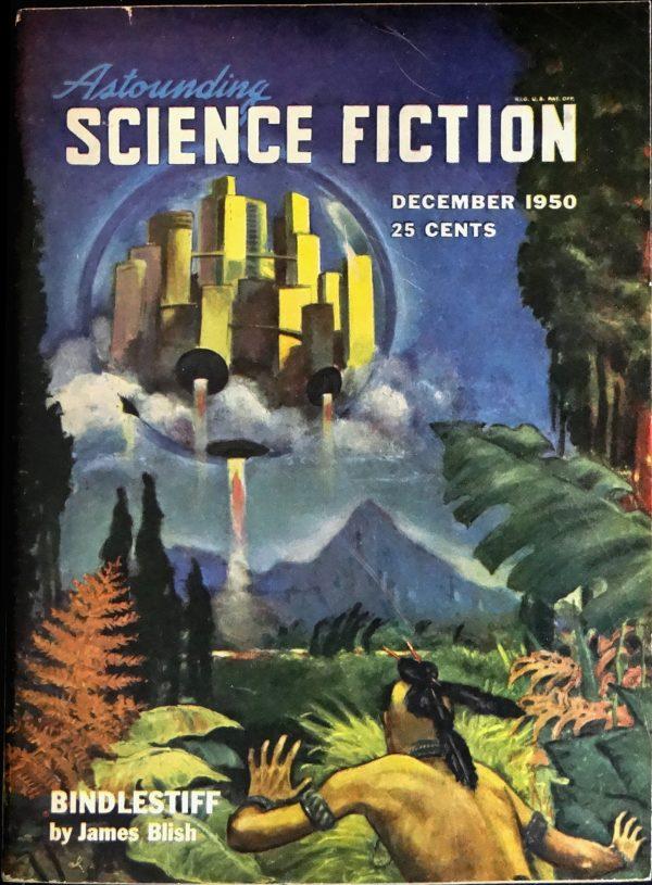 Astounding Vol. 46, No. 4 (Dec., 1950). Cover by William Timmins