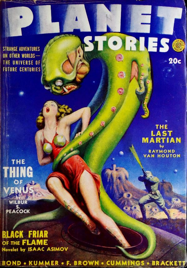 Planet Stories Vol. 1, No. 10 (Spring 1942).  Cover by Alexander  Leydenfrost