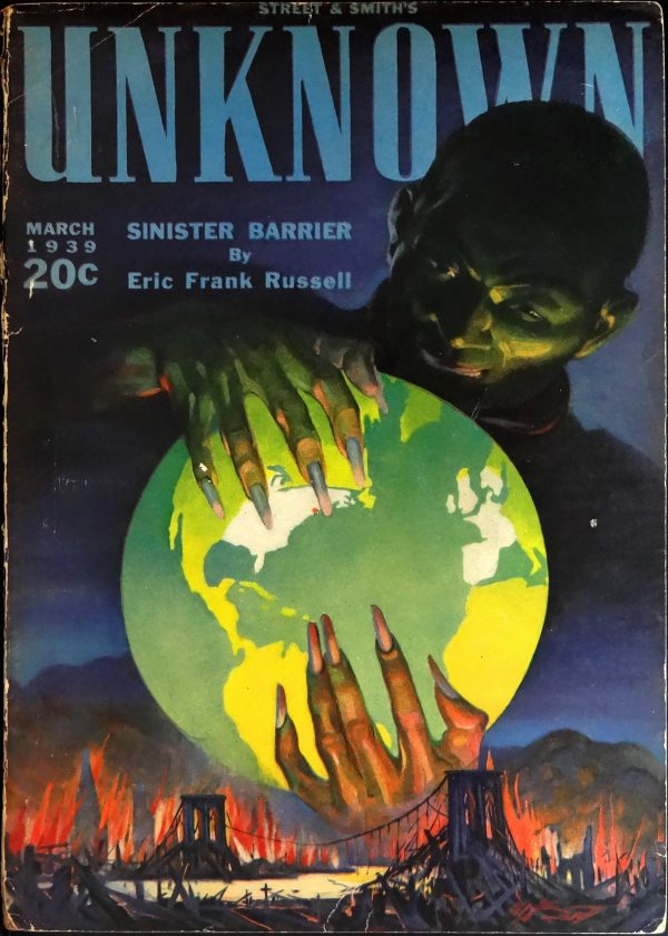 Unknown Vol. 1, No. 1 (March, 1939). Cover by H. W. Scott