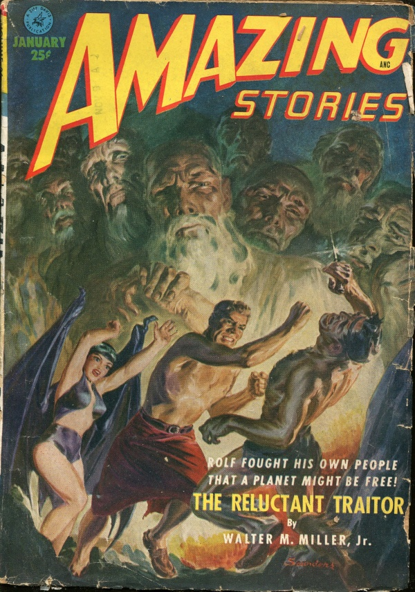 Amazing Stories Magazine, January 1952