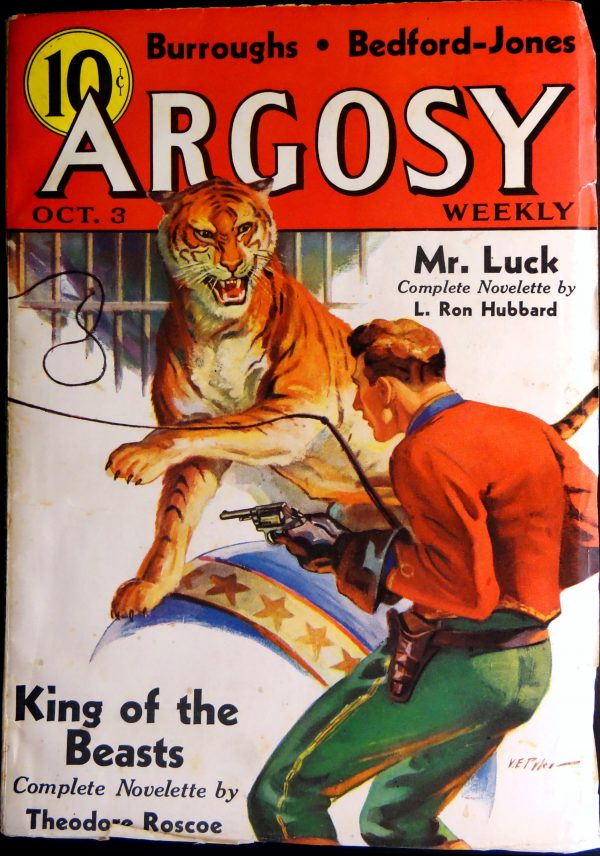 Argosy Weekly Vol. 267, No. 5 (Oct. 3, 1936).  Cover by V.E. Pike