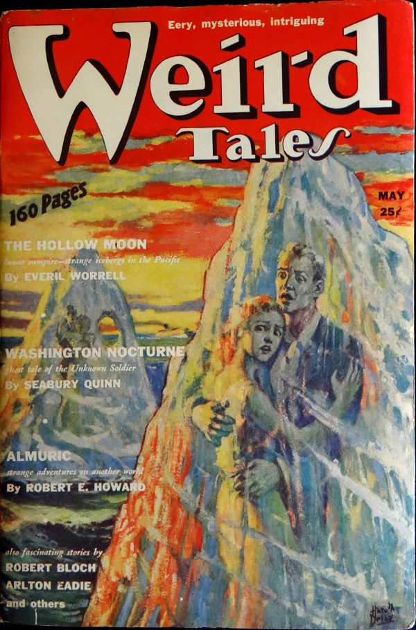 Weird Tales Vol 33, No. 5 (May, 1939). Cover by Harold De Lay