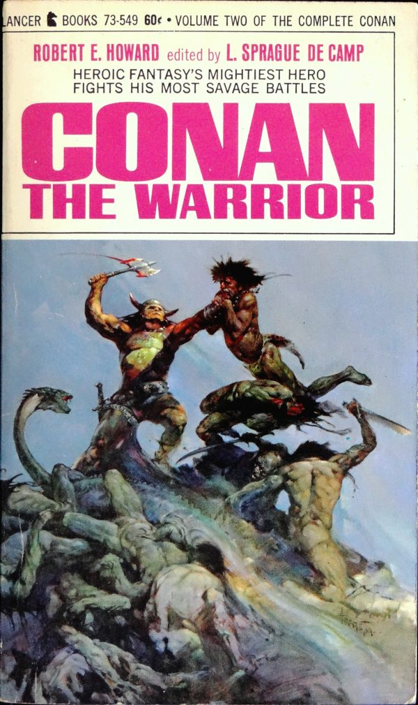 Lancer 73-549 Paperback Original (1967). Cover Art by Frank Frazetta