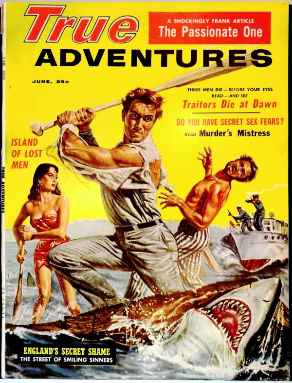 True Adventures (June, 1959). Cover by Doug Rosa