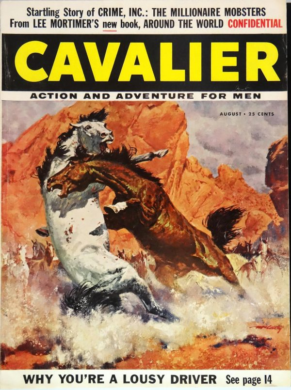 Cavalier (August, 1956). Cover by Frank McCarthy