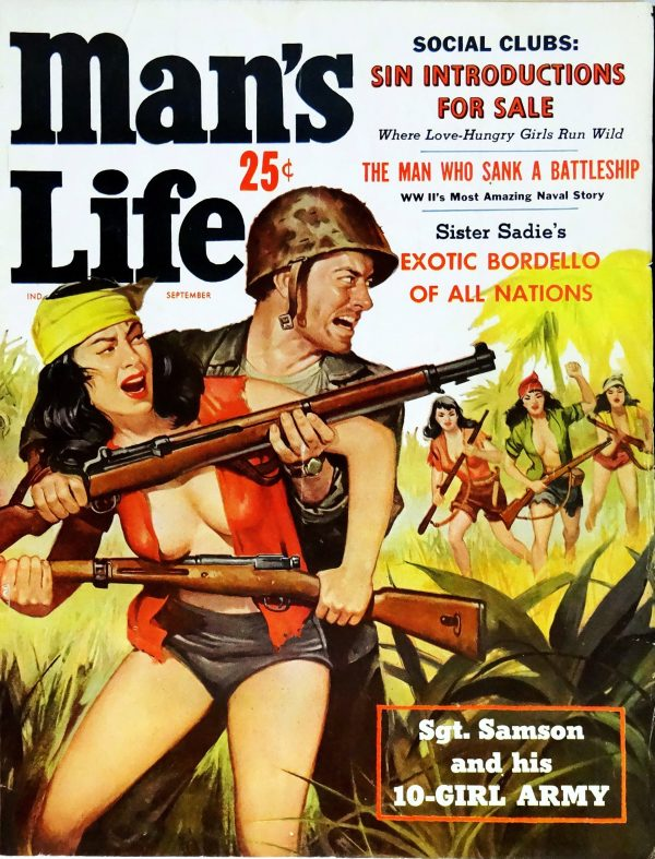 Man's Life (Sept., 1959). Cover Art by Will Hulsey