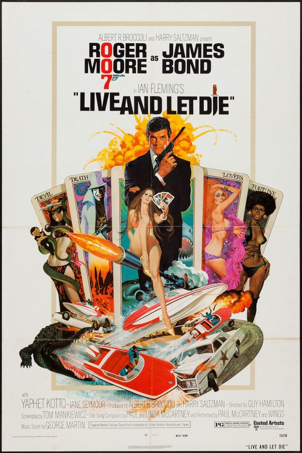 Live and Let Die (United Artists, 1973). One Sheet