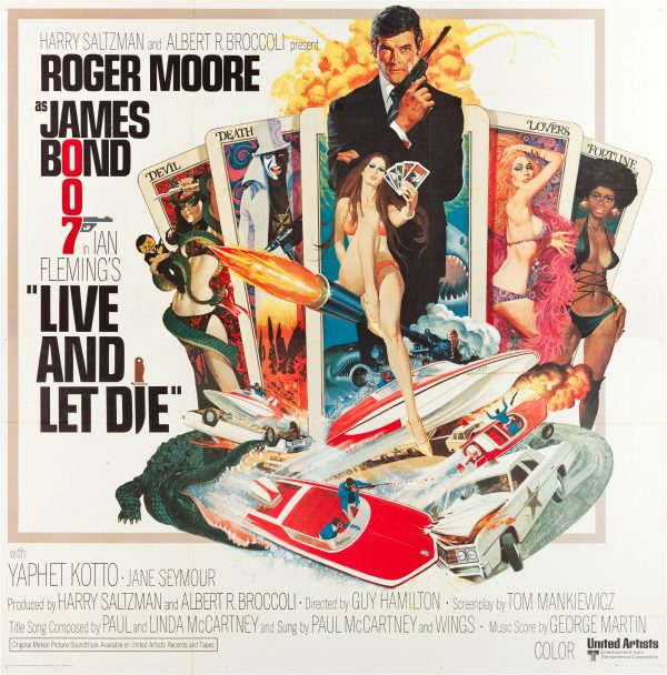 Live and Let Die (United Artists, 1973). Six Sheet