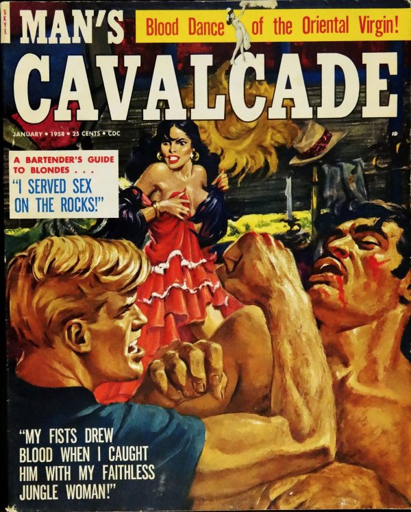 Man's Cavalcade (Jan., 1958). Cover Art by Howell Dodd