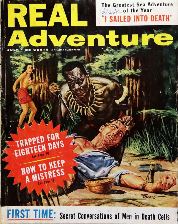 Real Adventure (July, 1958). Cover Art by Victor Prezio