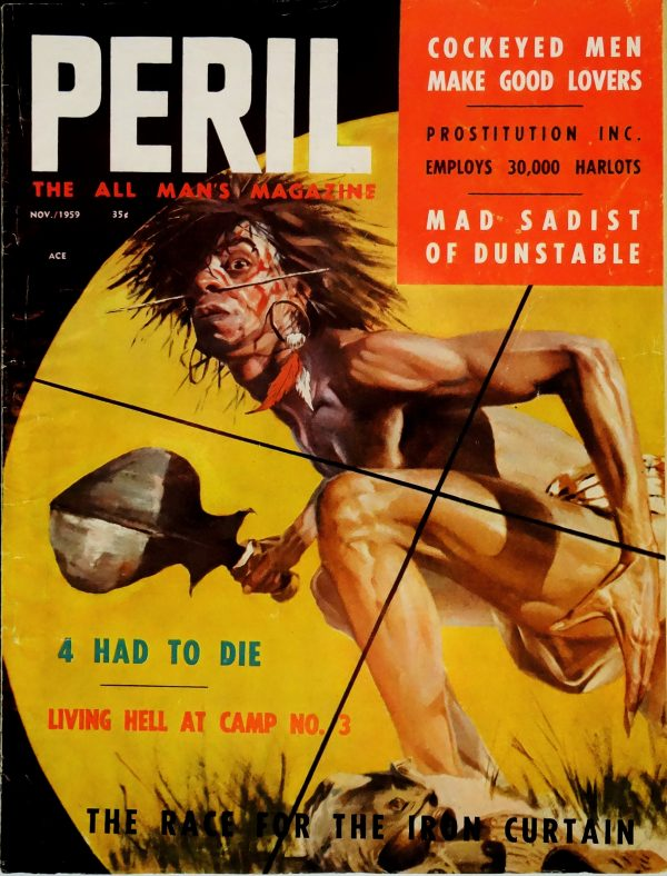 Peril (Nov., 1959). Cover Art by Basil Gogos