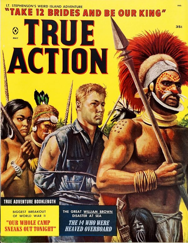 True Action (May, 1959). Cover Art by Mort Kunstler