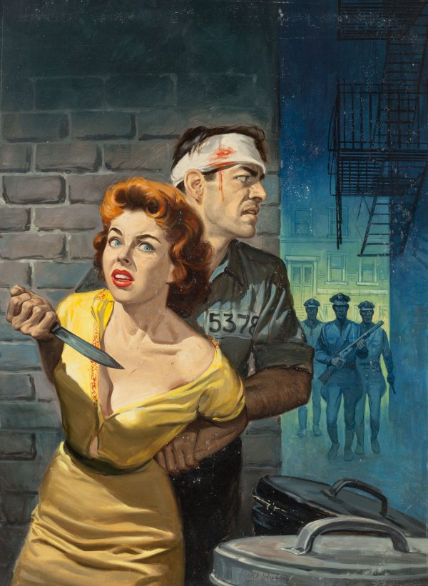 Trapped Detective Story magazine cover, June 1957