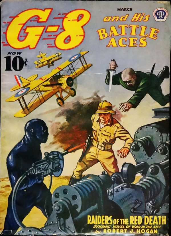 G-8 & His Battle Aces Vol. 23, No. 2 (March, 1941). Cover Art by John Fleming Gould