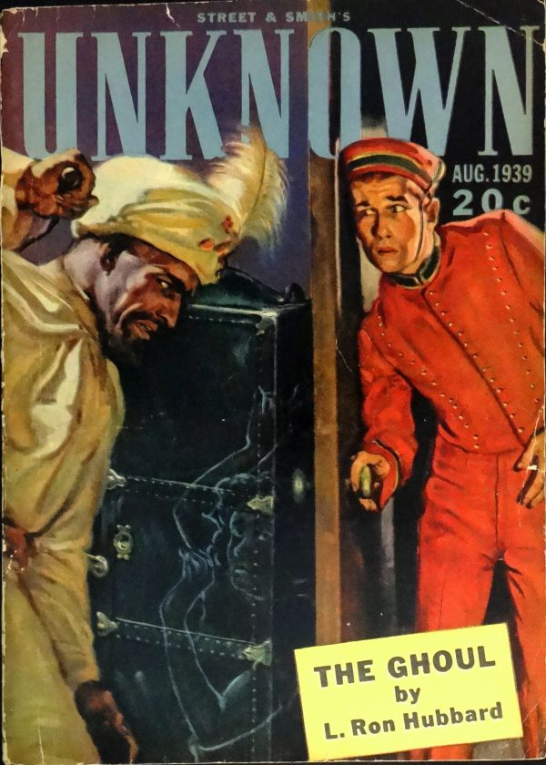 Unknown Vol. 1, No. 6 (Aug., 1939).  Cover Art by Graves Gladney