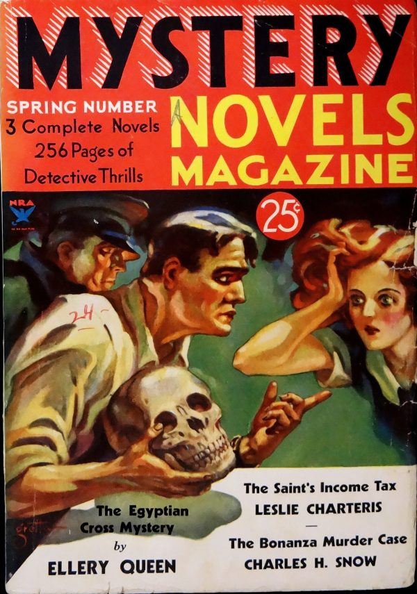 Mystery Novels Magazine No. 7 (Spring 1934).  Cover Art by Gretta
